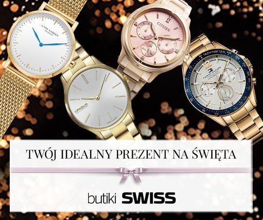 Magiczny Czas. Zegarki. Prezenty. Moc życzeń. Najbliżsi. Spotkajmy się w butiku SWISS. Odwiedź nas, pomożemy Ci wybrać wyjątkowy prezent.