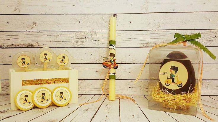 """Μια όμορφη συνεργασία ξεκινησε.. Με ένα γλυκάκι μπορείς... (@me_ena_glykaki_mporeis) στο Instagram: """"#meenaglykakimporeis #NelyG #happy_easter #lampada #cookies #lollipops #chocolate_egg #vespa"""