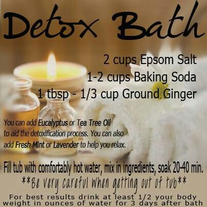 Just did this detox bath, hot as heck and pretty miserable. But I was sweating like a pig and got through it!
