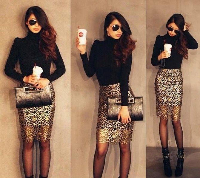 Gold skirt - 20 USD