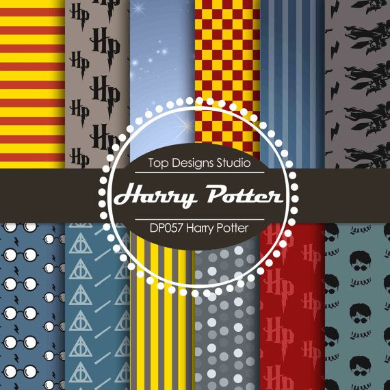 Sale Harry Potter Digital Paper Harry Potter By Topdesignsstudio