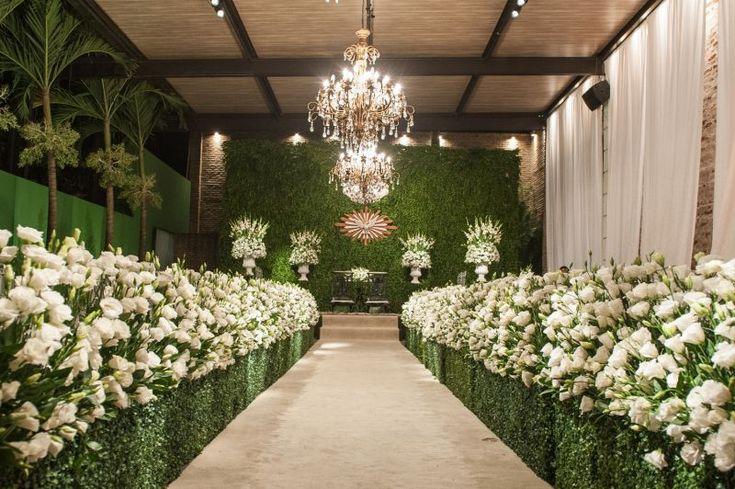 Blog Meu Dia D - Casamento Bruna - Decoração Branca e Verde Clássica (16)