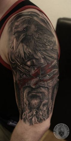 Tattoo-Foto: Wikinger Rabe                              …