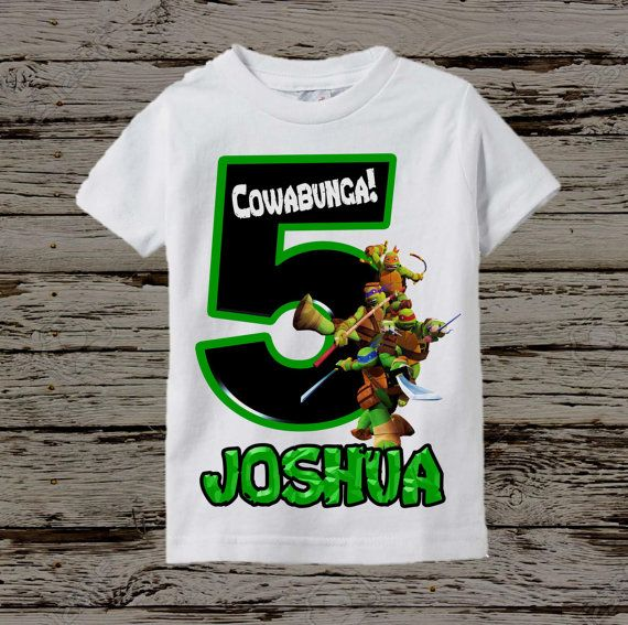 Ninja Turtles Birthday Shirt  TMNT Birthday by BellaFashionDesignz