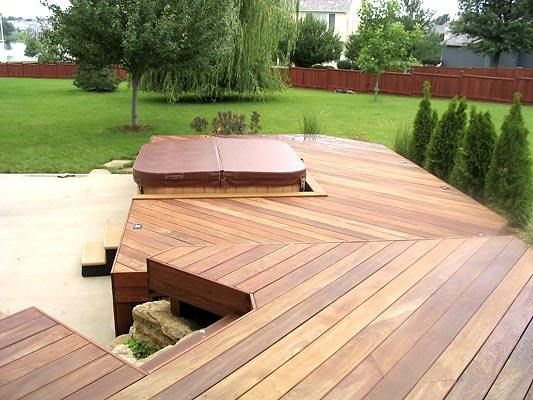 16 best images about spas ext rieur on pinterest decking for Spa deck design