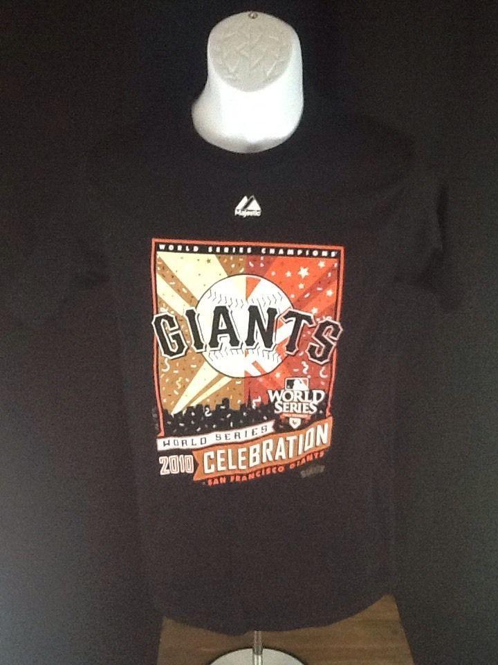 SAN FRANCISCO GIANT 2010 WORLD SERIES MEN S MLB BASEBALL BLACK MAJESTIC T SHIRT #sfgiants #Majestic #SanFranciscoGiants