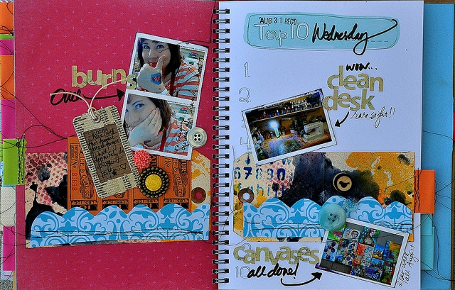 by Dina WakleyArtsy Scrapbook, Smash Ideas, Art Journals, Media Art, Smash Smash Book, Book Pages, Scrapbook Smashbook, Smash Smashbook, Altered Book