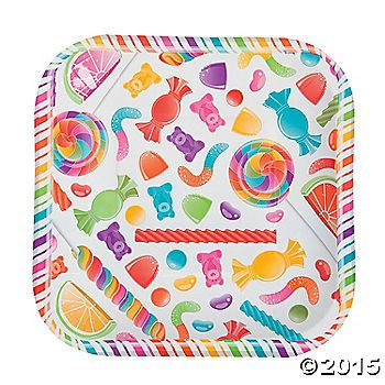 Sweeten up your soiree in style with these adorable Lollipop Lane Dessert Plates! Printed with bright gummy bears, jelly beans, lollipops and more, these ...