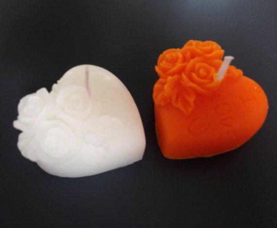 Colori di nozze favori  10 cuore candele  candele di AmeliaCandles
