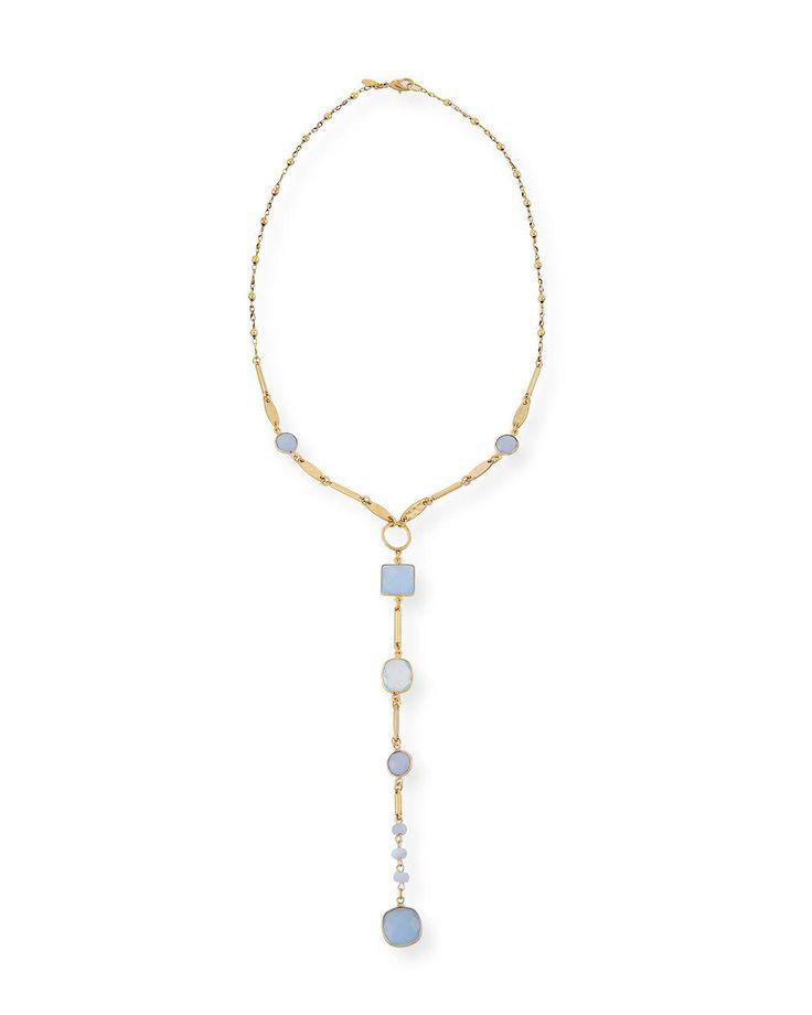 Sequin Monte Carlo Lariat Pendant Necklace