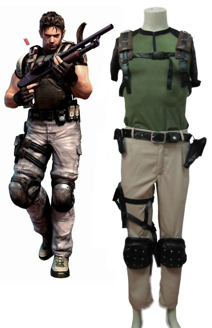 Free Shipping Resident Evil 5 Chris Game Cosplay Costume