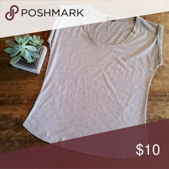 Cute Beige Tee with Shimmery Stitching Nice top! Crosby Tops Tees - Short Sleeve