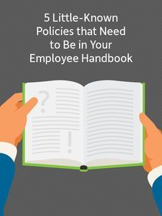 Are these 5 policies missing from your employee handbook? #HR http://www.insperity.com/blog/5-little-known-policies-need-employee-handbook/?utm_source=pinterest&utm_medium=post&utm_campaign=outreach&PID=SocialMedia
