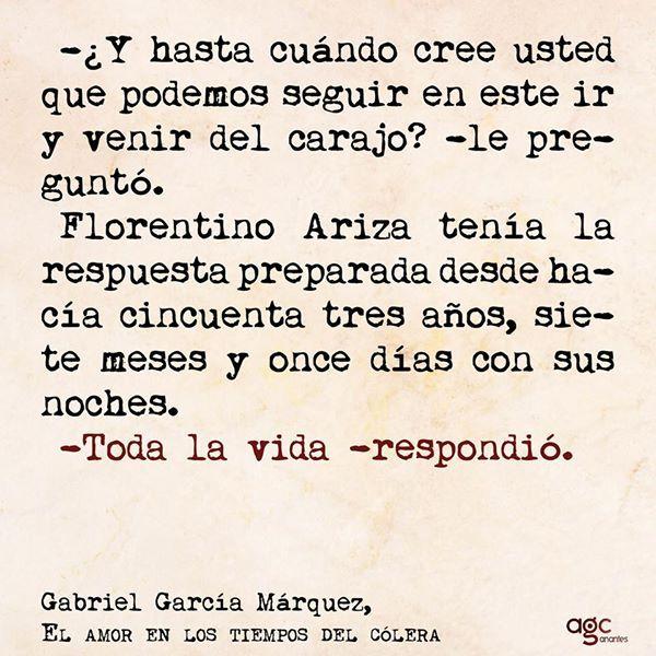Gabriel Garcia Marquez Florentino Ariza Tenia La Respuesta