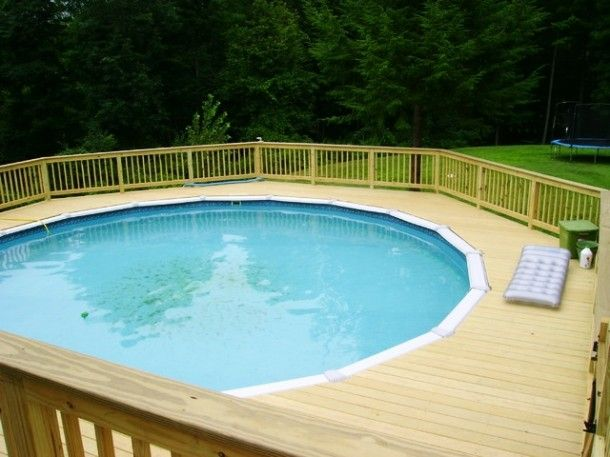 52 best images about pools design ideas on pinterest for Floating deck around above ground pool