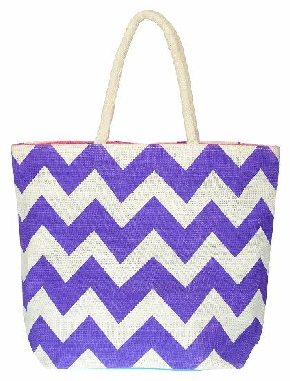 Utsav Kraft Women's Shoulder Bag (White and Purple).