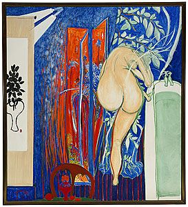 Brett Whiteley 'Screen as the bathroom window' 1976
