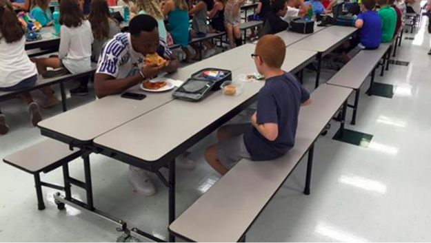 "So when a friend sent Paske the photo, saying, ""Travis Rudolph is eating lunch with your son,"" Paske, who only then learned that Rudolph was an FSU football player, said, ""I had tears streaming down my face."" 