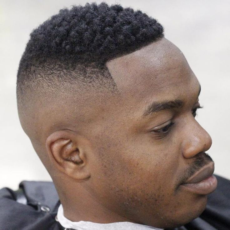 High Skin Fade With Afro Top