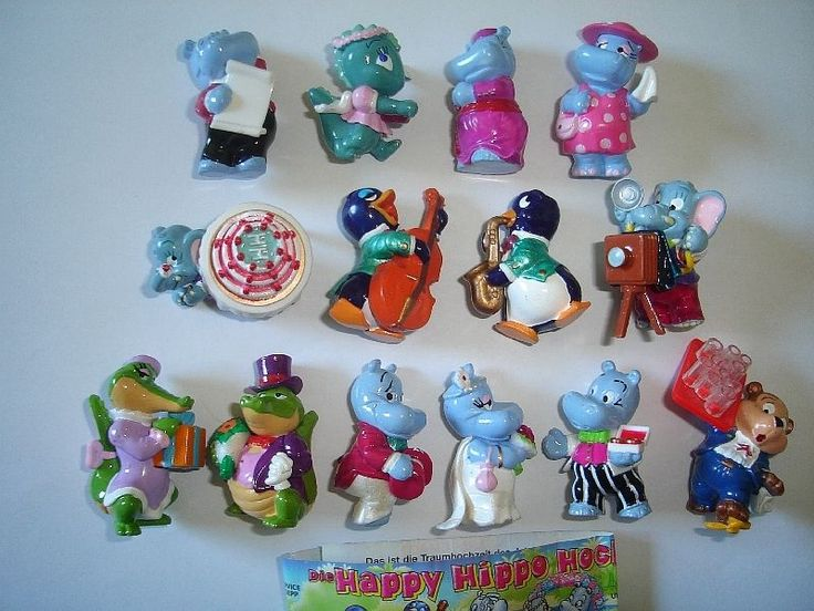 Kinder Surprise Set Happy Hippos Wedding Marriage 1999 Figures Collectibles | eBay