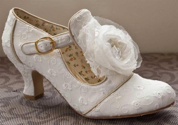 Low Heels Low Heel Vintage Wedding Shoes