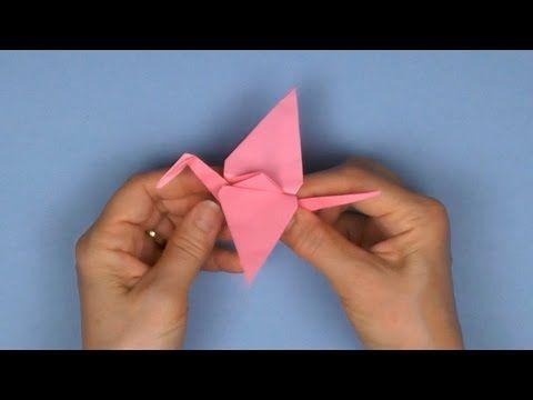 Tuto origami: Grue traditionnelle - YouTube