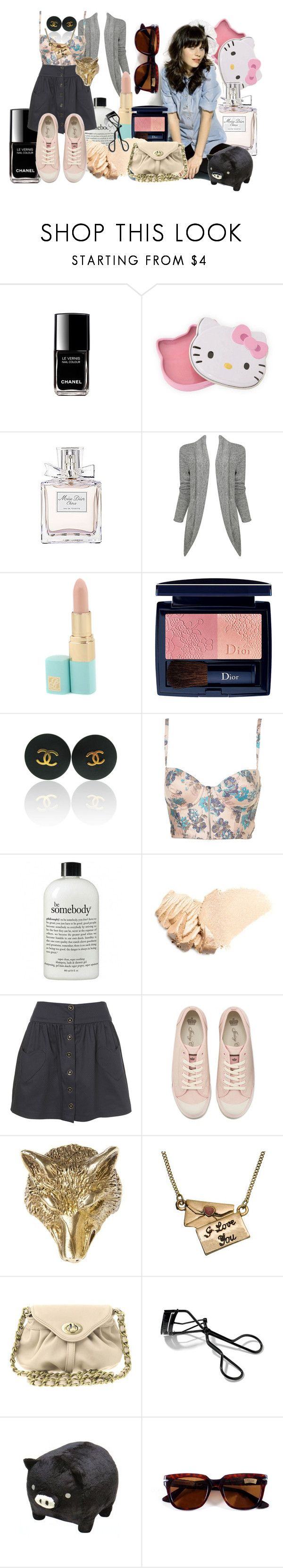 """Remember December"" by lauraemma ❤ liked on Polyvore featuring Nordstrom, Hello Kitty, Christian Dior, Forever 21, Zooey, Chanel, philosophy, Benefit, Juicy Couture and Alkemie"