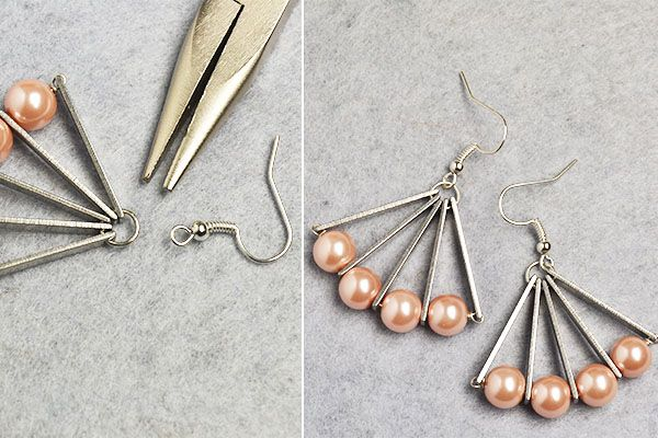 Like the pearl beads fan earrings?More details will be shared by LC.Pandahall.com soon.
