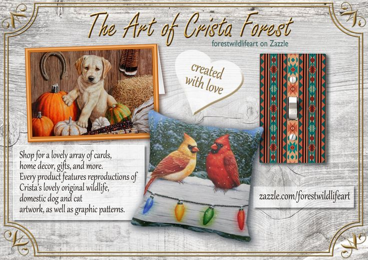 The art of Crista - forestwildlifeart on Zazzle