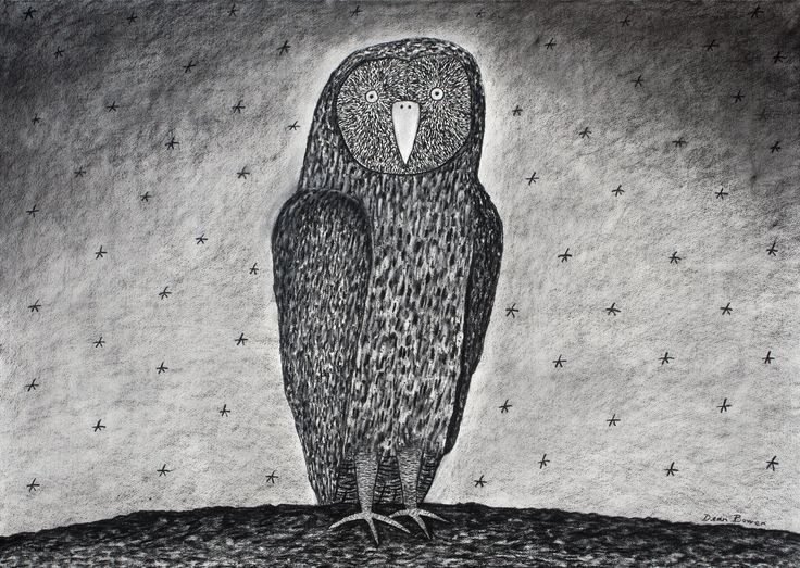 Standing Owl by Dean Bowen Pinned by www.myowlbarn.com