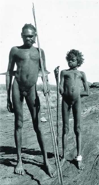Nanatugurba and Nanabanji, a Luritja man and boy, June 1931. Photograph by Ernest Kramer.