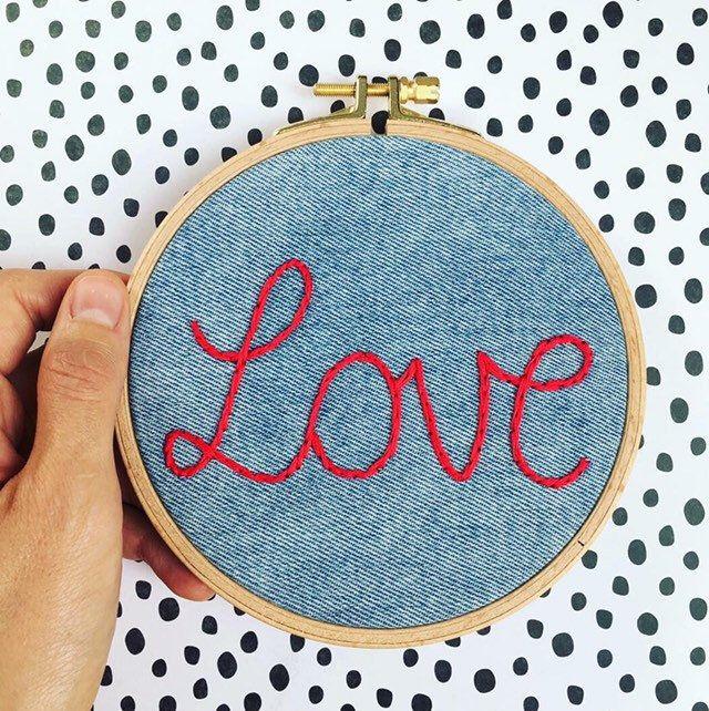 Stickbild Name personalisierbar, Liebe / Love, Geschenk zur Geburt / Taufe / Hochzeit, individualisierbar, Hochzeitsgeschenk, Babyparty