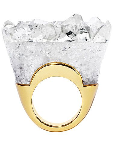 A sculptural ring that really rocks. Strike gold this season with accessories that rock.  Plus, shop more of fall's chicest trends. By Harper's Bazaar Staff Read more: Fall Must-Haves - Gold Jewelry and Accessories for September 2012 - Harper's BAZAAR