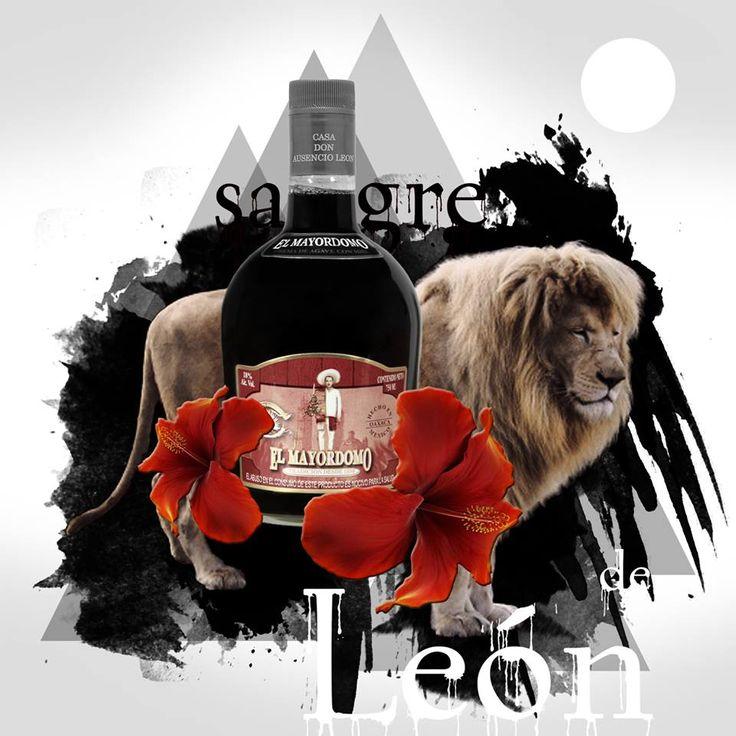 Sangre... sangre de León!!!  #Poster #Cartel #Tlacolula #Oaxaca #Liqueur #Licor #MagueyLiqueur #LicordeMaguey #Sangre #SangreDeLeón #Mayordomo #ElMayordomo #AusencioLeon #CasaAusencioLeon