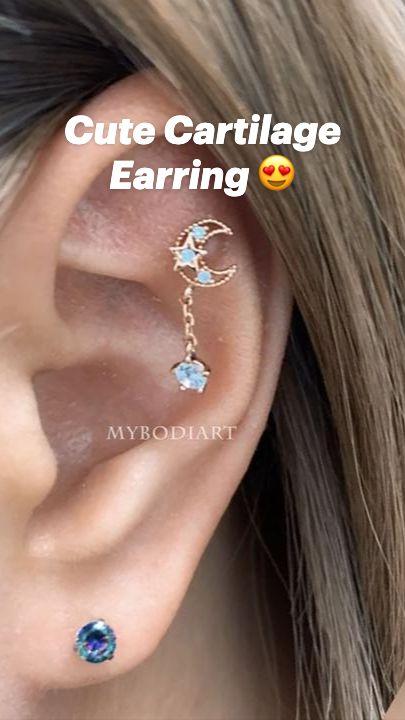 Cute Cartilage Earrings, Cute Ear Piercings, Daith Piercing, Tragus, Ear Jewelry, Jewlery, Piercing Ideas, Conch, Body Mods