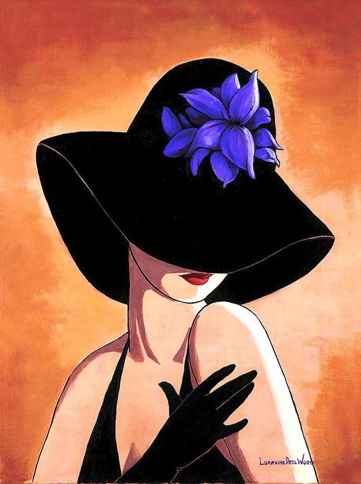 Школе, картинки женщины в шляпах рисунки