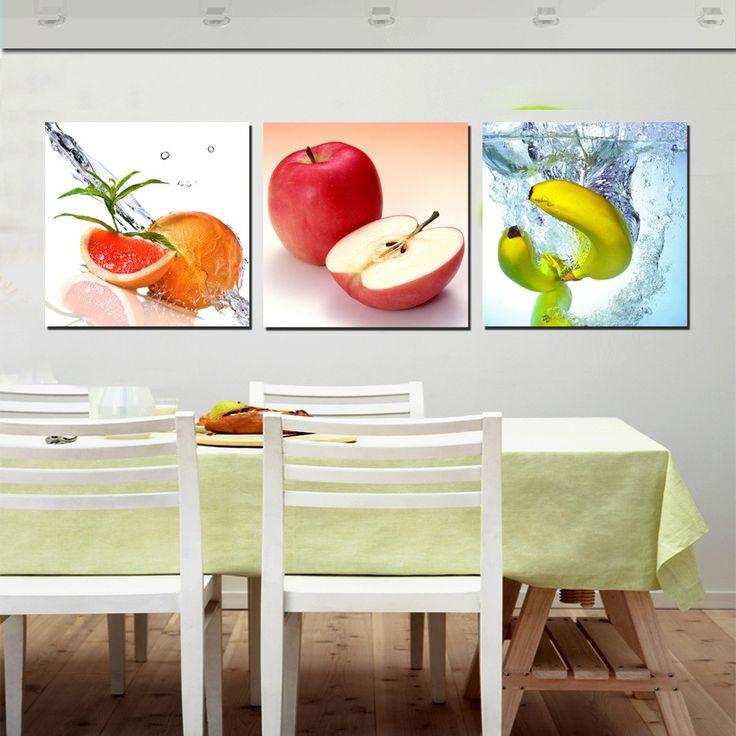Comprar 3 unidades frutas frescas pinturas for Cuadros tripticos para comedor