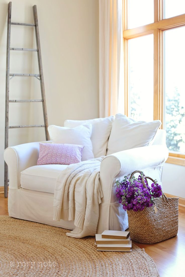 A Rosy Note - another addition to fave reading nooks...or cozy weekend afternoon naps!