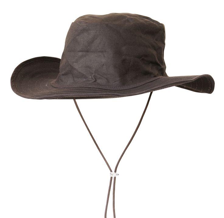 Cappello Lakota in tessuto cerato impermeabile per cavaliere