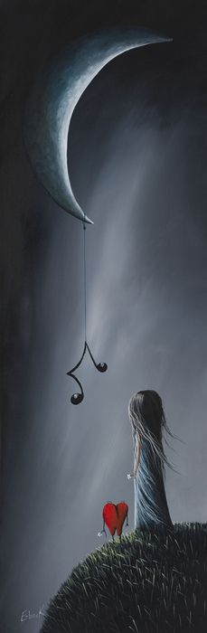 ...dangles music in the night...  painting by Shawna Erback - They Feel Your Love Song