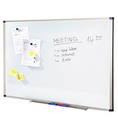 Tableau blanc Master of Boards® surface laquée résistante | tailles diverses – cadre en aluminium | effaçable et inscriptible, 80x110cm