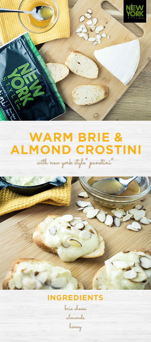 An at-home brunch means no waiting in line, as many mimosas as your heart desires, and, best of all, Warm Brie & Almond Crostini with New York Style®️ Panetini®️. This super simple dish is worth waking up for.