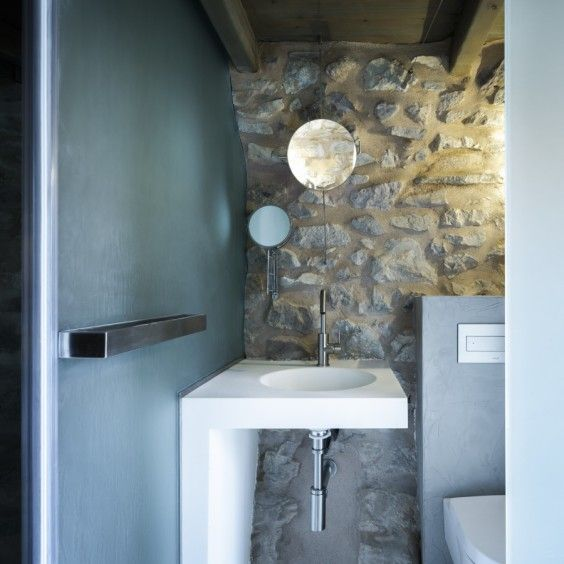 Tainaron Blue, new boutique hotel and rental in Greece,  a blue sink