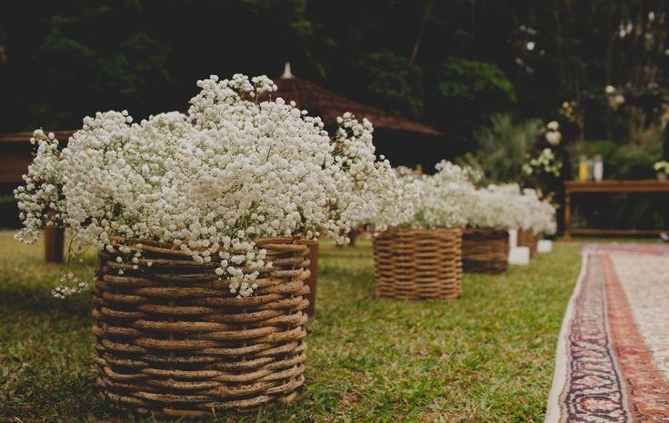 Casamento boho: cestinho - Foto Thrall Photography