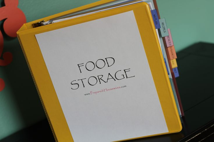 Step-by-step instructions to putting together a Food Storage binder with printable binder tags included! #organize #foodstorage #emergencypreparedness- www.PREPARED-HOUSEWIVES.com
