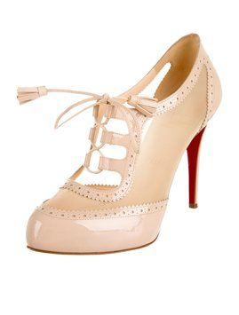 Christian Louboutin Nude Patent Leather Mamimo Rete Round-toe ...