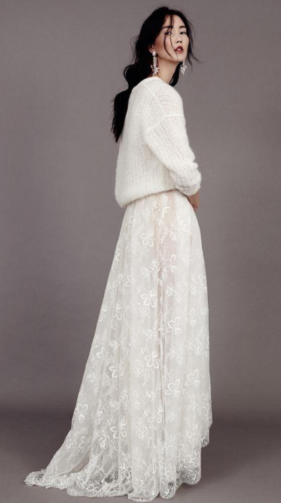 Robe de mariée dentelle et maille créateur Berlin, Kaviar Gauche l La Fiancée du Panda blog Mariage et Lifestyle #kaviargauche #papillon #bridal