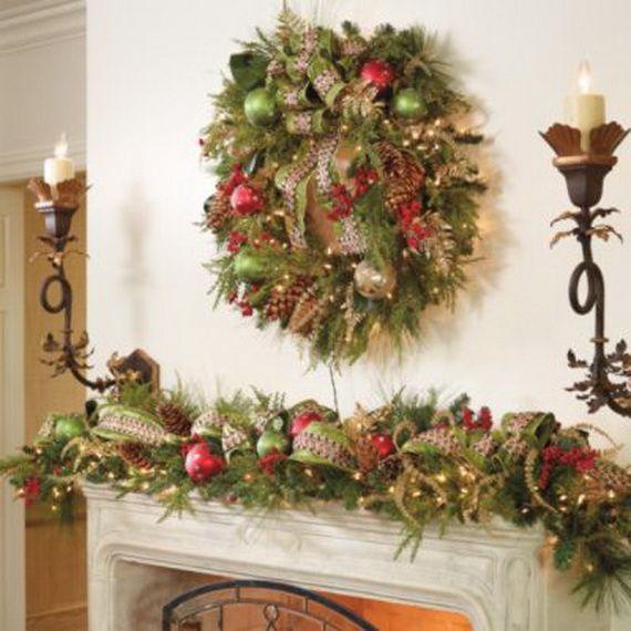 Mejores 40 imgenes de chimeneas decoradas navidad en Pinterest