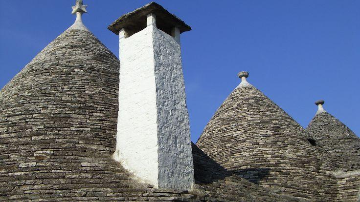 Trulli roof tops in Puglia