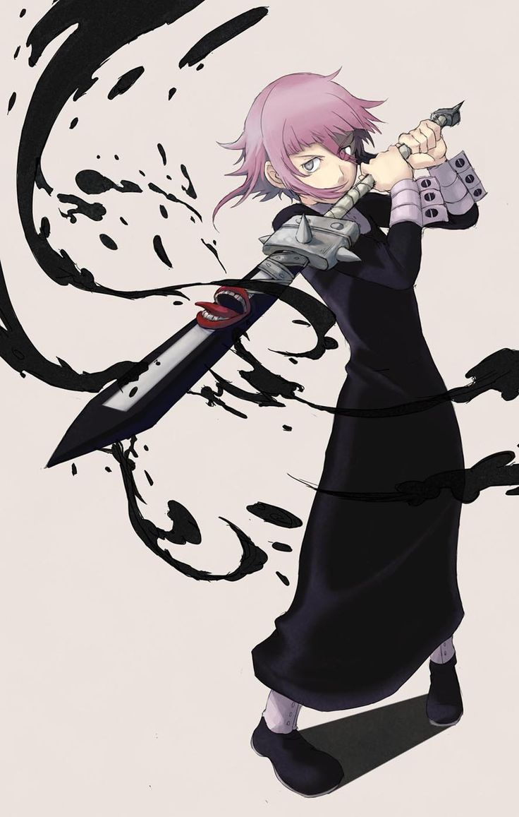 Crona, equipped with a demon sword and black blood to boot.